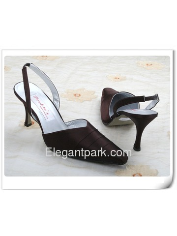 Elegantpark Slim Satin Pointy Toes Stiletto Heel Evening Shoes (MC-059)