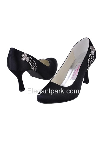 Elegantpark Gorgeous Satin Pumps Stiletto Heel Bridal Shoes (EP11008)