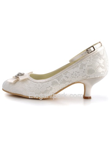 Elegantpark Fabulous Lace Closed Toe Spool Heel Evening Shoe (AJ8950)