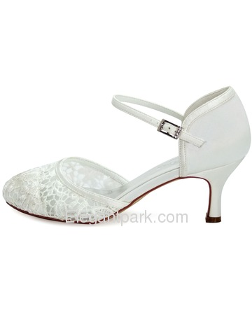 Elegantpark Ivory Lace Closes Toe Kitten Heels Wedding Bridal Shoes (HC1511)