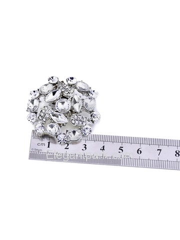 EletantPark Women Wedding Dress Accessories Irregular Shape Coloured Rhinestones Shoe Clips 2 Pcs