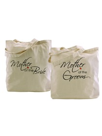 ElegantPark Mother of the bride groom Tote Bag Natural Canvas 100% Cotton