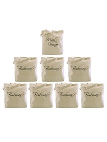 Tote bag Set Wedding Favors Bride to Be Bridal Shower Bachelorette Gifts Canvas 100% Cotton