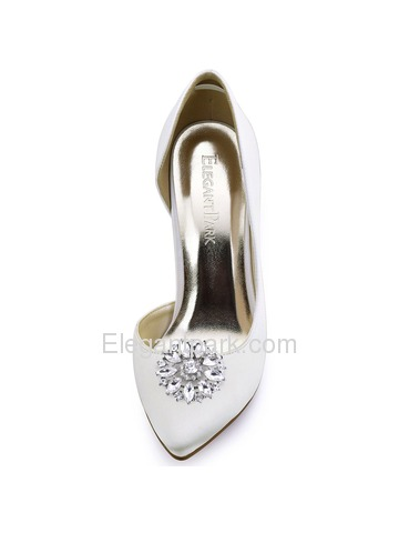BQ ElegantPark Fashion Decorative Round Rhinestones Crystal Wedding Party Shoe Clips 2 Pcs
