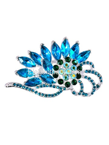 BP1706 Crystals Brooch Pin Women Fashion Jewelry Blooming Flame Flower