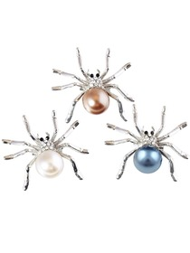 BP1710 Women Fashion Jewelry Spider Pearls Gift Dress Brooch Pins