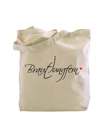 Brautjungfern Bridesmaid Tote Bag Wedding Favour Hen Night Shower Party Gifts Canvas 100% Cotton