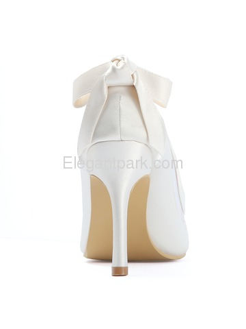 HC1806 Women Strappy Pointed Toe High Heel Pumps Satin Evening Wedding Party Shoes (HC1806)