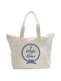 ElegantPark Loop Mate of Honor Tote Bag Wedding Bridal Shower Gifts Zip 100% Cotton