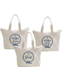 ElegantPark Loop Bride+Mother of the (Bride+Groom) Tote Bag Set Women's Wedding Bridal Shower Gifts