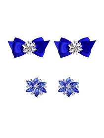 ElegantPark 2 Pairs Combination Women Wedding Accessories CQ+AJ Blue Shoes clips