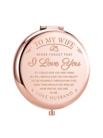 ElegantPark Gifts for Wife Birthday Wife Gifts from Husband Engraved Compact Mirror Romantic Anniver