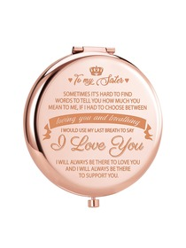 ElegantPark Sister Gifts from Sister Brother Birthday Gifts for Friends Female Rose Gold Engraved Co